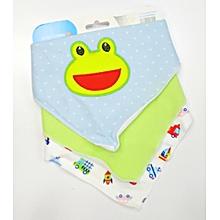 Soft Cotton Baby Bandana Bibs Dribble Bibs Burp Cloth (Multicolor) .