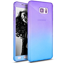 Ultra Thin Full Body Coverage Protection Soft PC Dual Layer Slim Fit Case with Tempered Glass Screen Protector for Samsung Galaxy Note 5   XXZ-Z