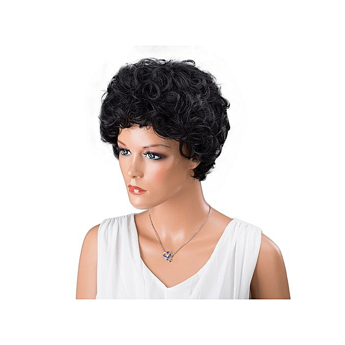 Women Short Black Front Curly Hairstyle Synthetic Hair Wigs For Black Women 61676e3ea