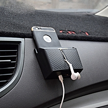 Car EVA Carrying Organizer Storage Double-layer Sticker Bag for Phone Coin Key and Other Small Items(Small Size)