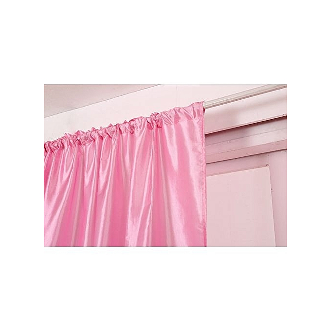Olivaren 1PCS Solid Color Window Curtain Panel Treatment Door Drapes 145cm X 180cm Pink