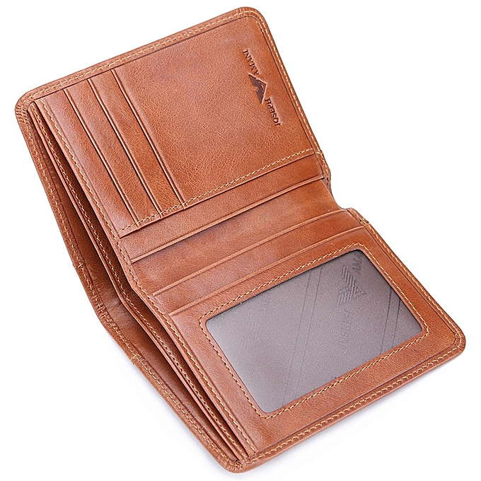 ea48a47e1845  Brown thin section Zhuo Fan Armani wallet men s short leather wallet suede leather  wallet