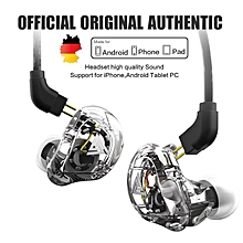 VK1 4 Dynamic Hybrid HIFI DJ Monito Running Sport Earphone 5 Drive Unit Headset Earbud NO Mic xYx-S