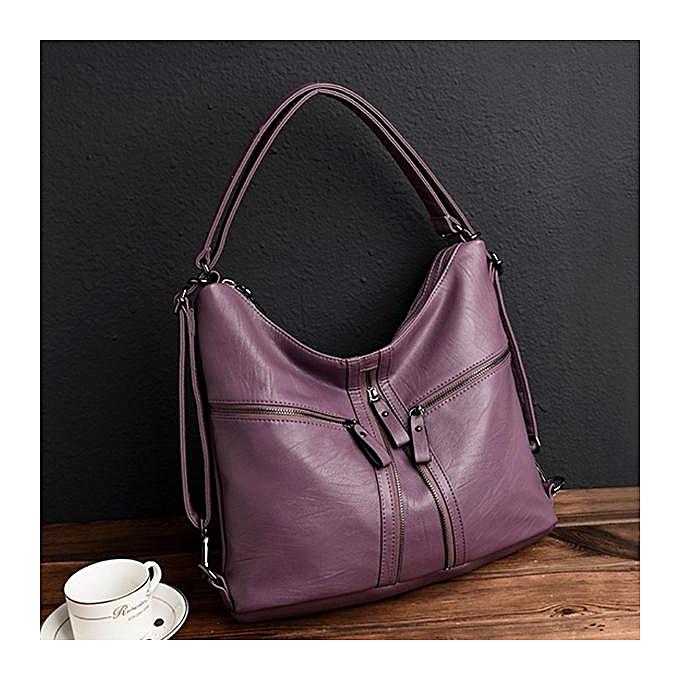 ... Three way women s bag 2017 winter new fashion shoulder diagonal  shoulder bag ladies soft leather large ... fcea58fca0