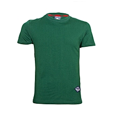 Green Round Neck Stretch T-Shirt