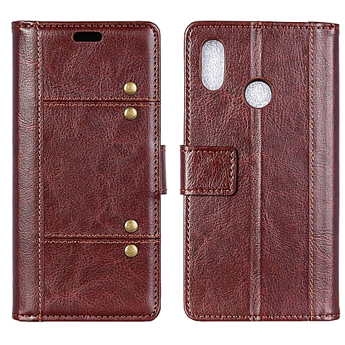 outlet store 1d7ca 47299 Redmi Note 5 Pro Case,Brass Buckle PU Leather Magnetic Enhanced Flip Cover  with Card Slots and Folding Stand for Xiaomi Redmi Note 5 Pro