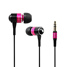 Olivaren Awei Q3 Headphone Earphone Super Bass For Cellphone Mp3 Mp4 PK -Pink