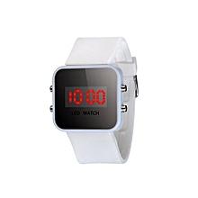 Tectores 2018 Fashion Multifunction LED Screen Digital Silicone Strap Girl Boy Quartz Sport Kids Wrist Watch WH