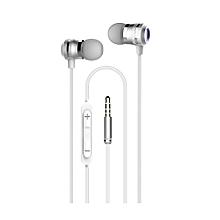 HS625 Earphones - THE ELEGANT SOUND - Silver