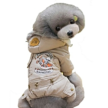 Unisex LC16810 Hot Apparel Pet Clothes Winter Stockriders Designer Winter Dog Coat Jumpsuits For Puppy And Cats - Gray
