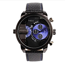 5cm Oversized Dial For Big Wrist Design Brand 3130 Mens Leather Watches Montre Homme Marque Male Relogio Masculino (Blue&Black)