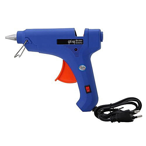 100W Professional Constant Temperature Hot Melt Glue Craft Repair Tool With  Switch EU Plug