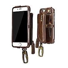 PCOL  Leather Zipper Wallet Case For iPhone 6 Plus & 6s Plus