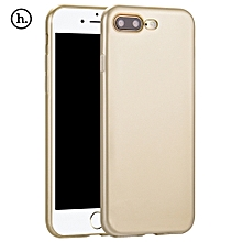 Lightweight Series Protective TPU Back Cover For IPhone 7 Plus - Champagne