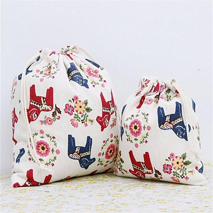 buy generic home storage cotton linen drawstring sack bag jewelry