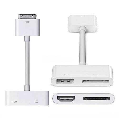 adapter iPad dock to HDMI digital AV video adapter Dock to HDMI HDTV HDTV  AV cable adapter for iPad 2 3 iPhone 4 4S iPod Touch 4G (only compatible