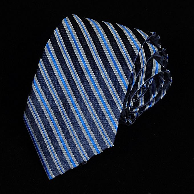 282e858aef9f 8CM Business Men Tie Dress Shirt Fashion Groom Marriage Stripe Spotted Bright  Tie Blue A5812