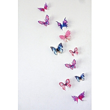 3D Wall Stickers Butterfly Fridge and  Home Decoration