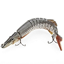 Artificial 13 Sections Big Pike Fishing Lure With Sharp Hooks - Colormix