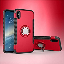 KZ Slim Fit Hybrid Dual Layer Armor Shock Absorption Rugged Defender with Ring Holder Kickstand Drop Protection Soft Rubber Bumper Case Cover for Apple iPhone X   XXZ-Z
