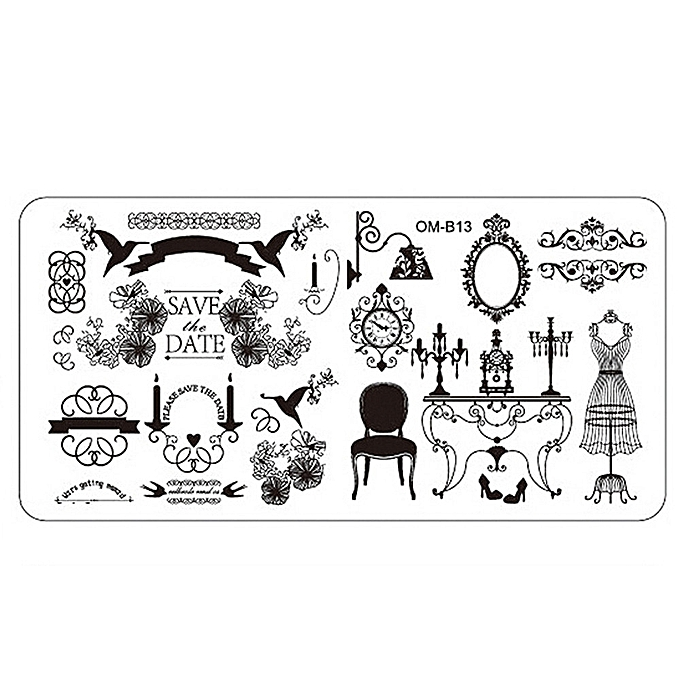Buy Zlime Nail Art Image Stamping Plates Manicure Stamp Template DIY ...