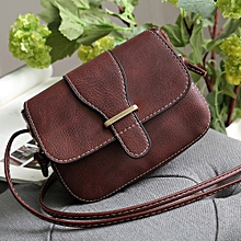 Africanmall store Womens Leather Purse Satchel Cross Body Shoulder Bag Messenger Bag BW-Brown
