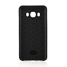 Shockproof Carbon Fibre Pattern Phone TPU+PC Case Suitable For Samsung J710