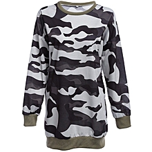Micro-elastic Camouflage Pattern Sweatshirt for Ladies - Multicolour