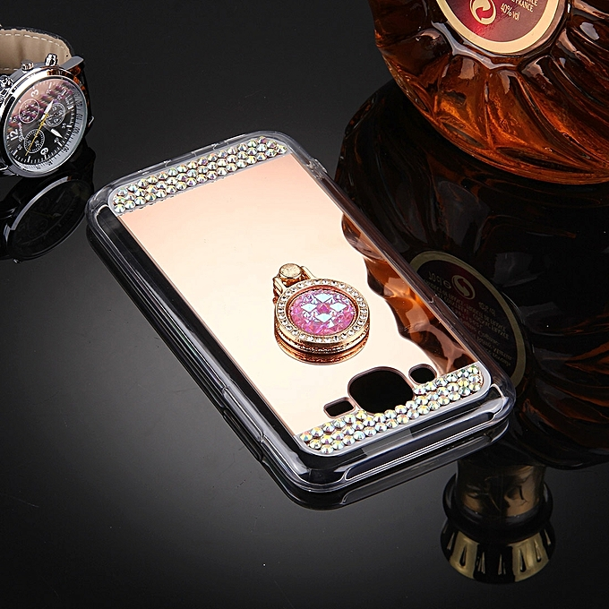 ... For Galaxy J3 (2016)   J310 Diamond Encrusted Electroplating Mirror  Protective Cover Case with ... 5608f14fcdf