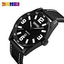 men quartz wristwatches large dial alloy case clocks calendar 30m waterproof fashion sports watches relogio masculino 9137
