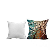 Throw Pillow Cushion With Interior Insert Filling ,3D Oil Painting Design 1#