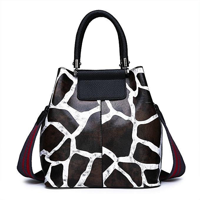 57998a918249 Generic Women s Leather Handbag Big Shoulder Crossbody Bag - Brown ...