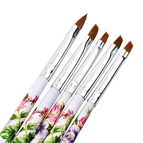 Buy Zlime 5pcs Uv Gel Acrylic Nail Art Brush Painting Pen Set Nail