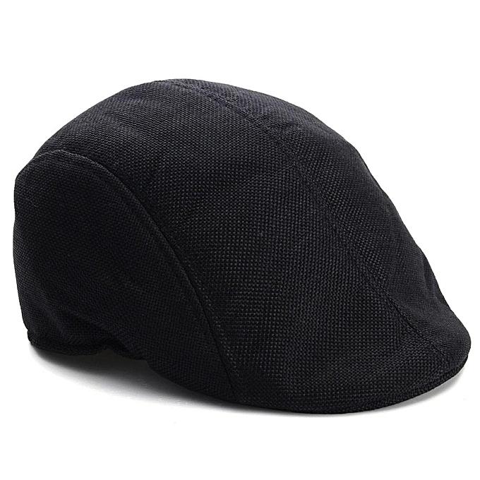 381323879ad Mens Womens Duckbill Ivy Golf Cap Driving Flat Cabbie Newsboy Gatsby Beret  Hat Black ...