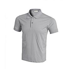 DIY Pullover Plain Polo Shirt (Grey)