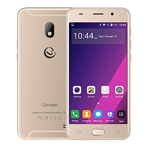 Gooweel S7 Smartphone 5.0-Inch QHD (1GB, 8GB ROM) Quad Core Android 5.1,5MP+2MP Camera 2200mAh 3G Mobile Phone GPS- Gold