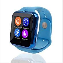 C88 Bluetooth Smart Watch Sync Notifier Heart Rate Monitor SmartWatch(Blue)