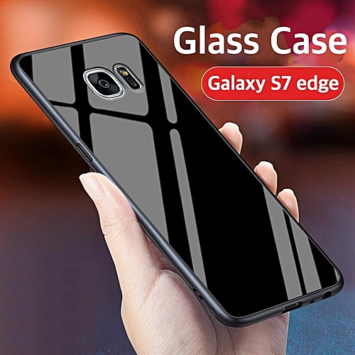 release date a6d19 ea220 Glass Case For Galaxy S7 Edge Cover Full Protection Tempered Glass Back  Cover Casing For Samsung Galaxy Galaxy S7 Edge Housing