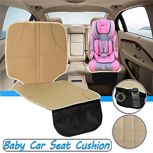 Universal Baby Child Car Seat Saver Anti Slip Safety Cushion Cover Beige