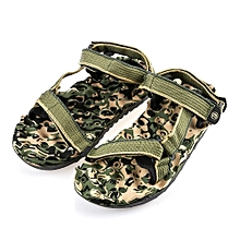 Casual Military Pattern Print Magic Tape Male Beach Massage Sandals