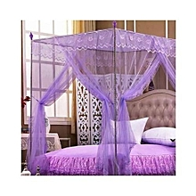 5*6 Mosquito net with straight metallic stands - Purple