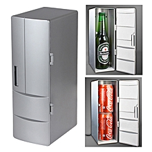 3.5W USB PC Mini Fridge Beverage Drink Cooler / Warmer, Size: 24.5 x 10.8 x 8.3cm(Silver)