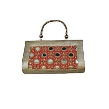 Mirrored Brocade Handbag - Pink