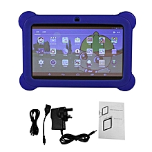 7 inch Children Kids Tablet Dual Camera Tablet With Cover for Android 4.4 blue