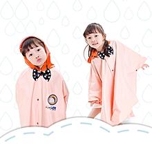 Age Above 3 Kids British Style Cartoon Reusable Cloak Raincoat Hoodies(Yellow M)
