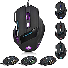 5500 DPI 7D LED Optical USB Wired Gaming PRO Mouse Mice For PC Laptop