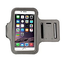 Armband Gym Running Sport Arm Band Cover Case For iphone 6s Plus 5.5Inch GY-Gray