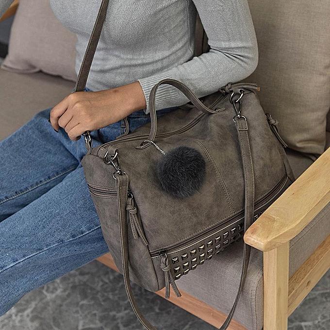 cabef94a85b Women Rivet Handbag Large Tote Satchel Shoulder Bag Travel Bag GY