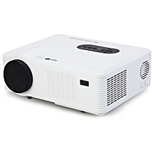 Excelvan CL720D LED Projector 3000LM 1280 x 800 Native Resolution with Digital TV Interface Support HDMI USB VGA AV Input-WHITE