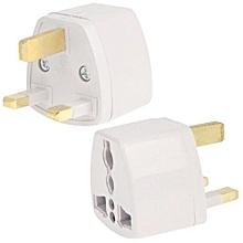 Travel Power Adaptor with UK Socket Plug(White)